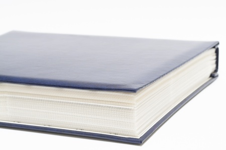 blue photo album. Stock Photo