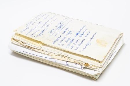 spirale vecchio notebook con record