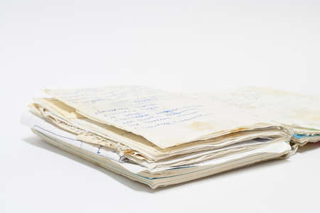 old spiral notebook with records. Stock Photo - 16722162