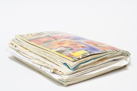 spirale vecchio notebook con record.
