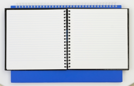 Notebook background in lines open view with  a spiral binding Stock Photo - 16852256