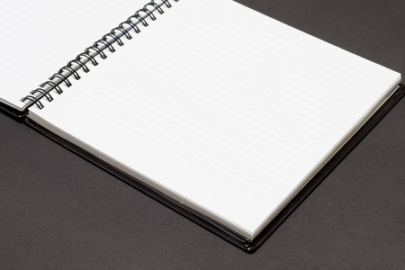 Notebook background in lines open view with  a spiral binding Stock Photo - 16852316