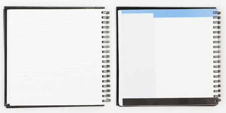 Notebook background in lines open view with  a spiral binding Stock Photo - 16852284