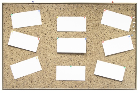 bulletin board with paper notes Stock Photo - 16909803