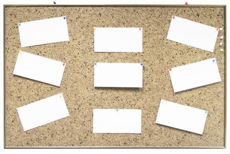 bacheca con note di carta