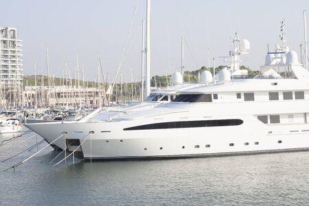 Large luxury motor yacht  Stock Photo - 17170521