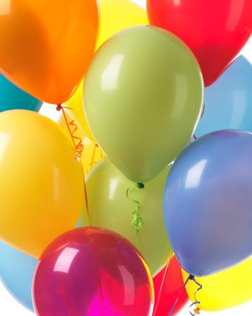 Globos coloridos del helio fiesta fondo abstracto