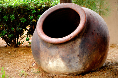 Ceramic pottery big wine pot in Cyprus