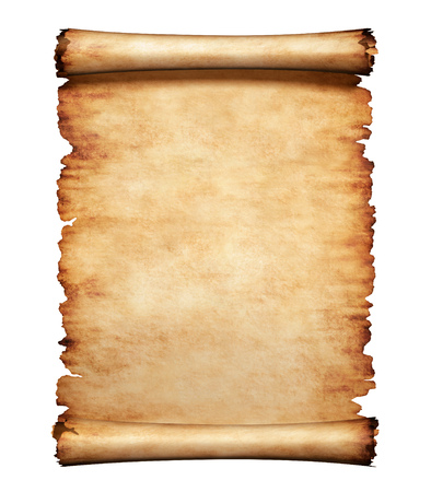 Oud grungy stuk perkament papier. Antieke manuscript brief achtergrond.