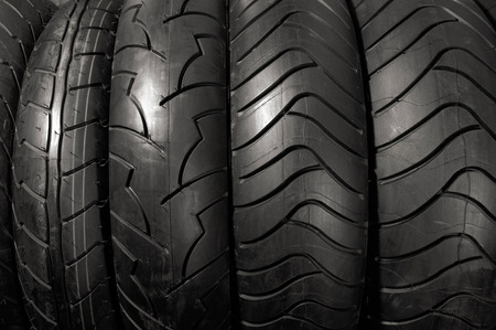 Stock photo of Racing motorcycle tires Horizontal abstract close-up texture background