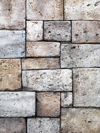 Stone wall rustic background white limestone texture