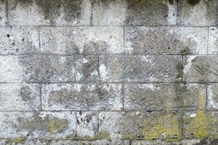 Grungy gray stone wall texture background Banco de Imagens