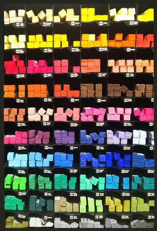 secco pastelli multicolori in un row.art, painting.Photo fatte per telefono, Foto per telefono
