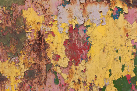 green paint: Rusty, colorful old vintage background.red, blue, yellow, green paint Stock Photo