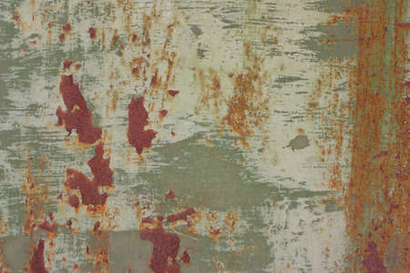 oxidate: Rusty, with green paint, old, vintage background Stock Photo