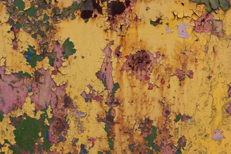 green paint: Rusty, colorful ,old ,vintage background.red, blue, yellow, green paint. Stock Photo