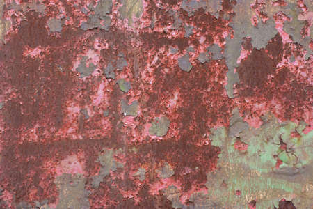 oxidate: Rusty old red and green vintage background