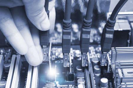 Technology of blocking, trading, crypto.toning