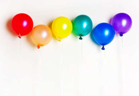 Balloons of rainbow colors, symbol, flag of LGBT