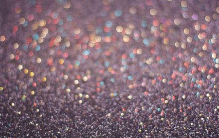 Dark blue background of glitter, blurred, defocused festive, Christmas, New Year.