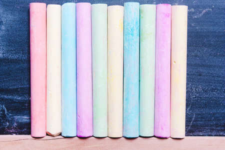 background of colorful pastel chalk. Concept art, creativity