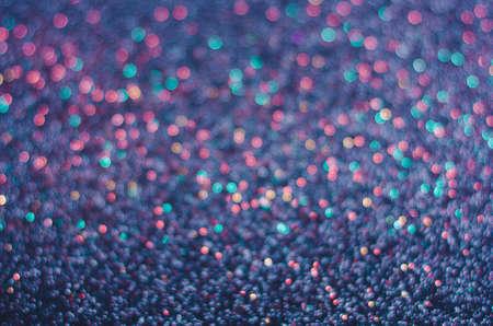 Dark Purple colorful background of glitter, blurred, defocused festive, Christmas, New Year.