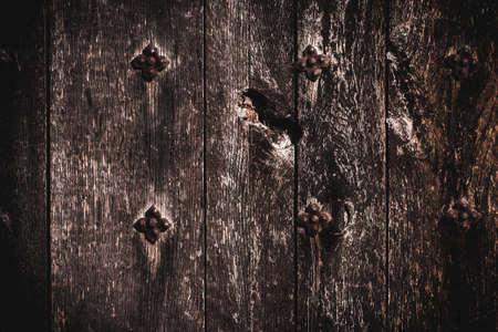 Old dark brown grunge natural vintage wooden background.