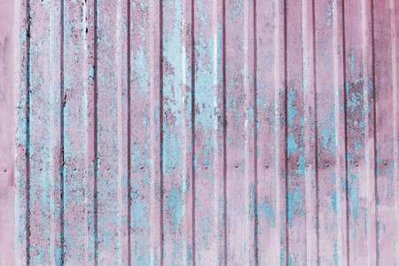 Metal old rusty grunge aluminum background with paint blue ,gray ,pink Reklamní fotografie