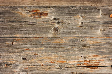 Wall, fence of old brown wooden boards. Grunge, rustic background