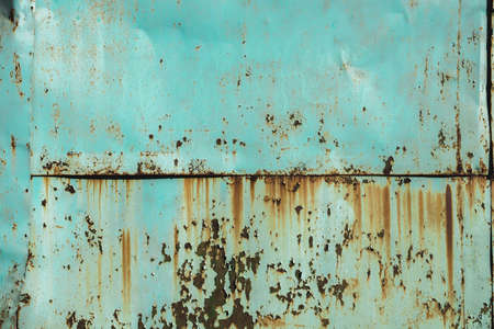 Green turquoise metal iron rusty military grunge background