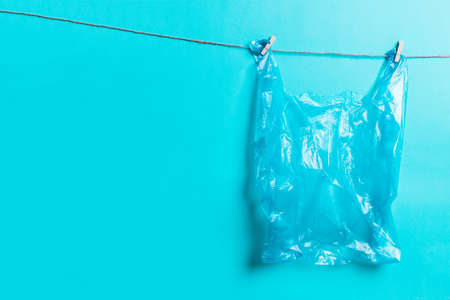 Plastic bag. Ecological concept of pollution of ecology, nature. Social advertising