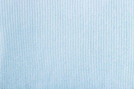 Blue cotton knitted cozy soft background