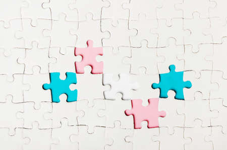 Background with puzzles with flag Stock Photo