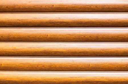 Horizontal brown wooden planks. Natural decorative texture. Standard-Bild