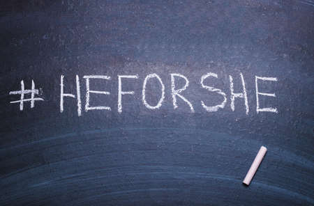 HeForShe .He For She. Global Solidarity Movement for Gender Equality, initiated by the UN