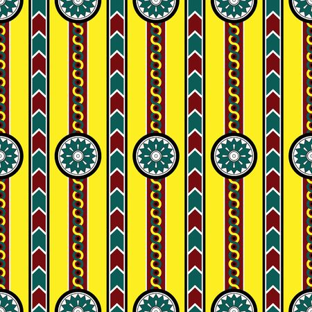 seamless pattern assiria illustration  Vector