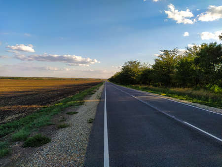 The road in the countryside