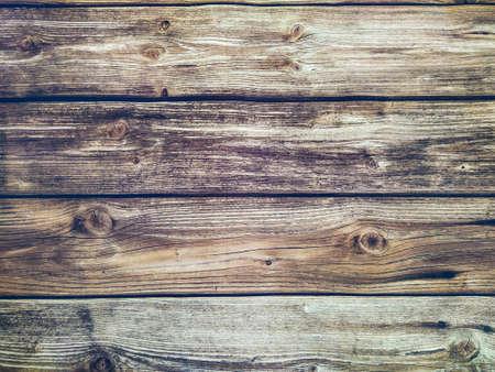 Background of wooden horizontal planks Banco de Imagens