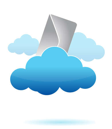 Letter in the cloud illustration design Vector