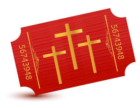 Religious event ticket illustration design Stock Vector - 11154512