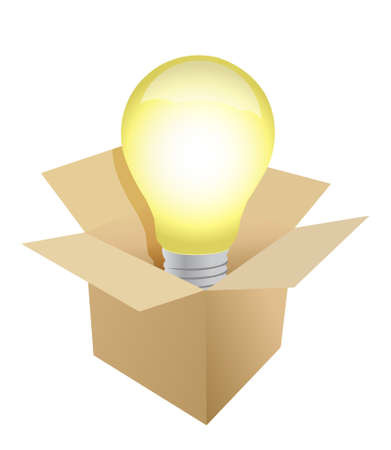 Box and Light Bulb illustration design Stock Vector - 11137791