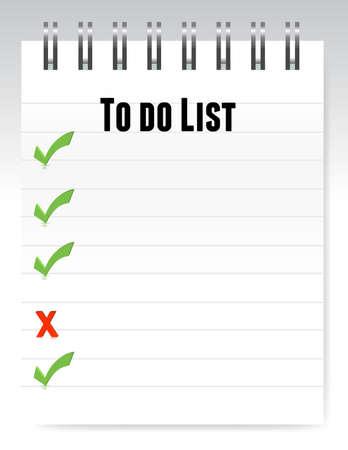 Notepad naar de lijst illustratie ontwerp te doen Stock Illustratie