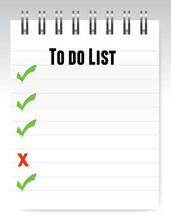organized: Notepad to do list illustration design  Illustration