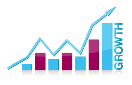 Blue and purple growth graph illustration design Stock Vector - 11173546