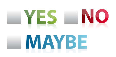 yes no: vote yes, no or maybe illustration design