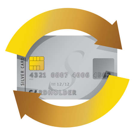 private information: credit card constant consumerism concept illustration design