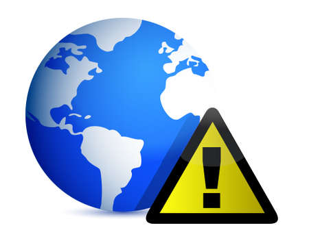 Globe Icon: Attention illustration design on white Vector