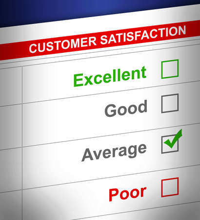 average: customer service survey with average selected. illustration design