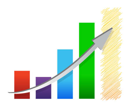 economic recovery: colorful economic recovery graph illustration design