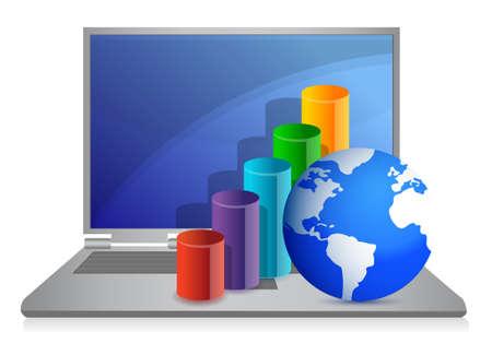 business laptop concept illustration design on white Stock Vector - 11226217